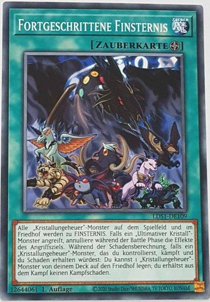 Fortgeschrittene Finsternis LDS1-DE109 ist in Common Yu-Gi-Oh Karte aus Legendary Duelists: Season 1 1.Auflage