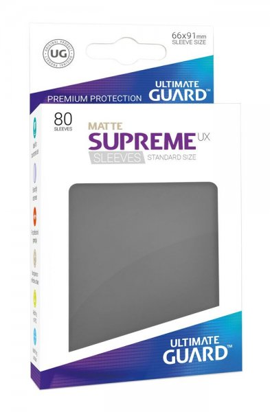 Ultimate Guard Supreme UX Kartenhüllen Standardgröße Matt Dunkelgrau (80)