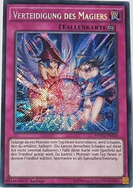 Verteidigung des Magiers MVP1-DES28 ist in Secret Rare aus The Dark Side of Dimensions Movie Pack Secret Edition 1.Auflage
