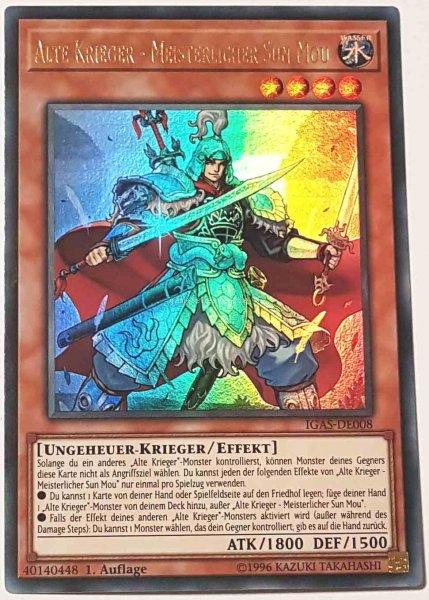 Alte Krieger - Meisterlicher Sun Mou IGAS-DE008 ist in Ultra Rare Yu-Gi-Oh Karte aus Ignition Assault 1.Auflage
