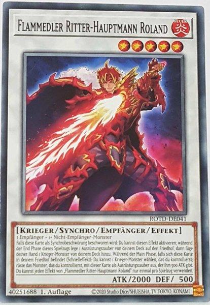 Flammedler Ritter-Hauptmann Roland ROTD-DE041 ist in Common Yu-Gi-Oh Karte aus Rise of the Duelist 1.Auflage