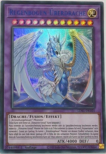 Regenbogen-Überdrache (blau) LDS1-DE101 ist in Colorful Ultra Rare Yu-Gi-Oh Karte aus Legendary Duelists: Season 1 1.Auflage