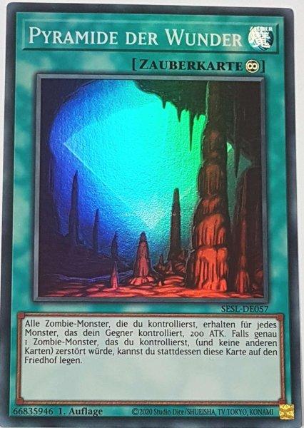 Pyramide der Wunder SESL-DE057 ist in Super Rare Yu-Gi-Oh Karte aus Secret Slayers 1.Auflage