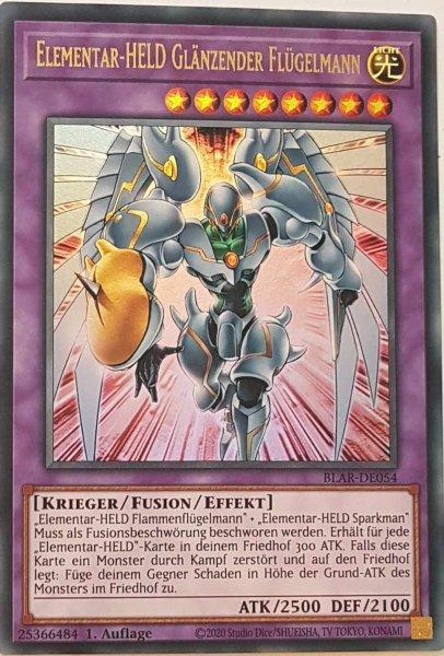 Elementar-HELD Glänzender Flügelmann BLAR-DE054 ist in Ultra Rare Yu-Gi-Oh Karte aus Battles of Legend: Armageddon 1.Auflage