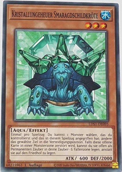 Kristallungeheuer Smaragdschildkröte LDS1-DE095 ist in Common Yu-Gi-Oh Karte aus Legendary Duelists: Season 1 1.Auflage