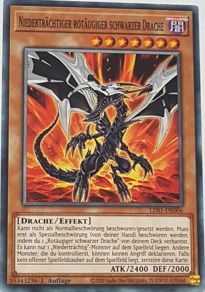 Niederträchtiger rotäugiger schwarzer Drache LDS1-DE006 ist in Common Yu-Gi-Oh Karte aus Legendary Duelists: Season 1 1.Auflage