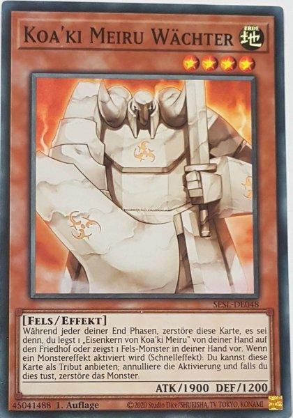 Koa'ki Meiru Wächter SESL-DE048 ist in Super Rare Yu-Gi-Oh Karte aus Secret Slayers 1.Auflage