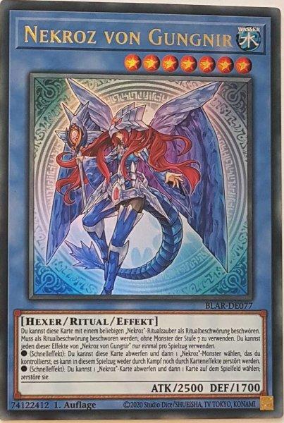 Nekroz von Gungnir BLAR-DE077 ist in Ultra Rare Yu-Gi-Oh Karte aus Battles of Legend: Armageddon 1.Auflage