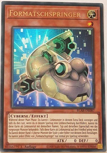 Formatschspringer BLAR-DE087 ist in Ultra Rare Yu-Gi-Oh Karte aus Battles of Legend: Armageddon 1.Auflage