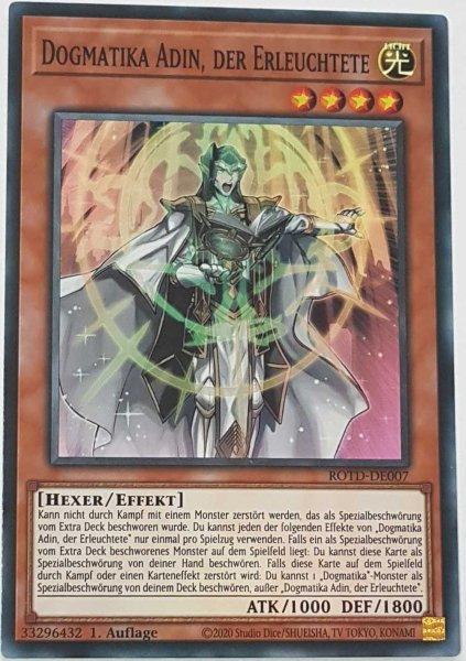Dogmatika Adin, der Erleuchtete ROTD-DE007 ist in Super Rare Yu-Gi-Oh Karte aus Rise of the Duelist 1.Auflage