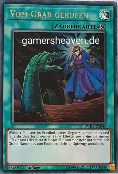 Vom Grab gerufen DUDE-DE044 ist in Ultra Rare aus Duel Devastator 1.Auflage