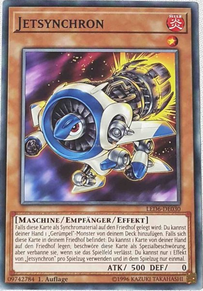 Jetsynchron LED6-DE030 ist in Common aus Legendary Duelists: Magical Hero 1.Auflage