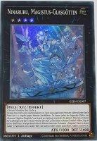 Ninaruru, Magistus-Glasgöttin GEIM-DE007 ist in Super Rare Yu-Gi-Oh Karte aus Genesis Impact 1. Auflage