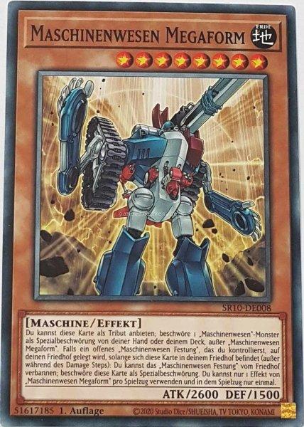 Maschinenwesen Megaform SR10-DE008 ist in Common Yu-Gi-Oh Karte aus Structure Deck: Mechanized Madness 1.Auflage