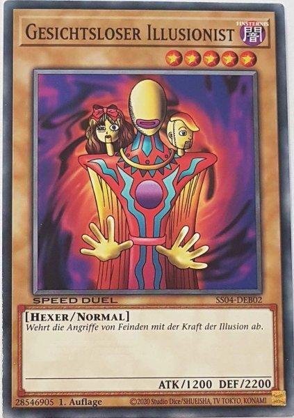 Gesichtsloser Illusionist SS04-DEB02 ist in Common Yu-Gi-Oh Karte aus Match of the Millennium 1.Auflage