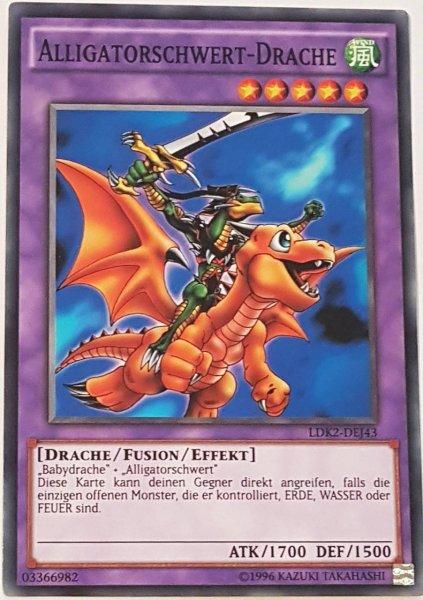 Alligatorschwert-Drache LDK2-DEJ43 ist in Common Yu-Gi-Oh Karte aus Legendary Decks 2