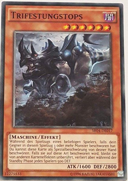 Trifestungstops SR04-DE017 ist in Common Yu-Gi-Oh Karte aus Dinosmasher's Fury