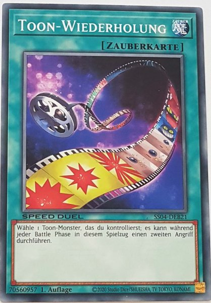 Toon-Wiederholung SS04-DEB21 ist in Common Yu-Gi-Oh Karte aus Match of the Millennium 1.Auflage