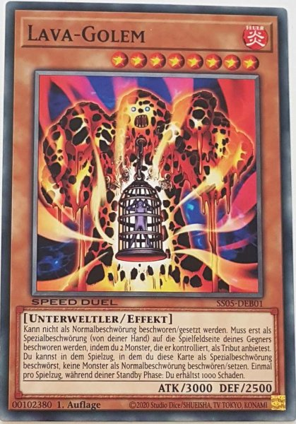 Lava-Golem SS05-DEB01 ist in Common Yu-Gi-Oh Karte aus Twisted Nightmares 1.Auflage