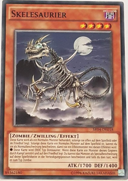 Skelesaurier SR04-DE018 ist in Common Yu-Gi-Oh Karte aus Dinosmasher's Fury