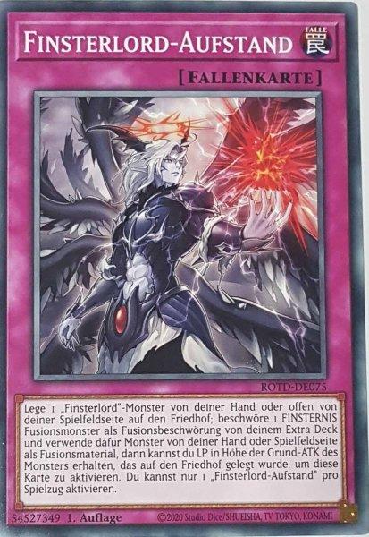 Finsterlord-Aufstand ROTD-DE075 ist in Common Yu-Gi-Oh Karte aus Rise of the Duelist 1.Auflage