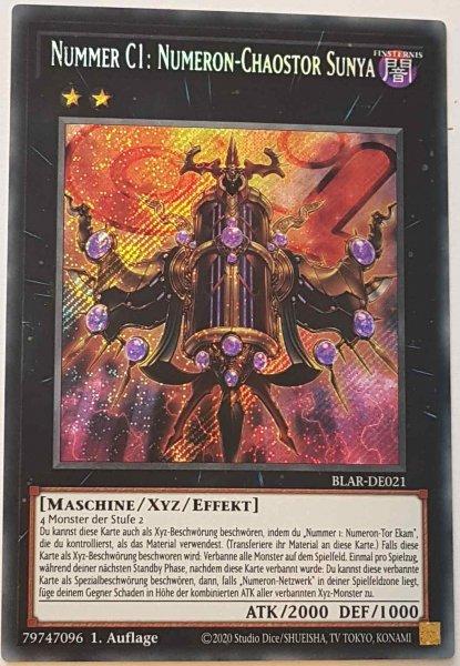 Nummer C1: Numeron-Chaostor Sunya BLAR-DE021 ist in Secret Rare Yu-Gi-Oh Karte aus Battles of Legend: Armageddon 1.Auflage