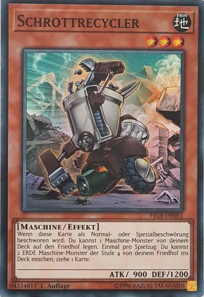 Schrottrecycler FIGA-DE051 ist in Super Rare Yu-Gi-Oh Karte aus Fists of the Gadgets 1.Auflage