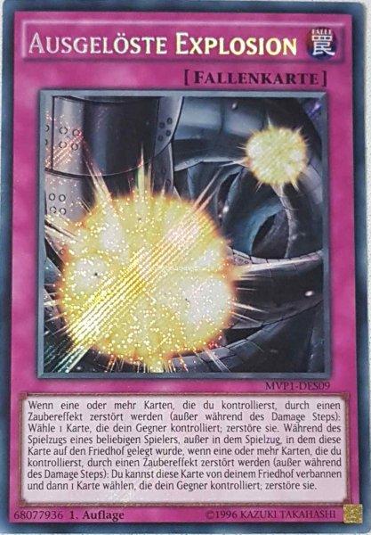 Ausgelöste Explosion MVP1-DES09 ist in Secret Rare aus The Dark Side of Dimensions Movie Pack Secret Edition 1.Auflage