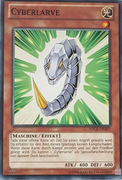 Cyberlarve SDCR-DE007 ist in Common Yu-Gi-Oh Karte aus Cyber Dragon Revolution