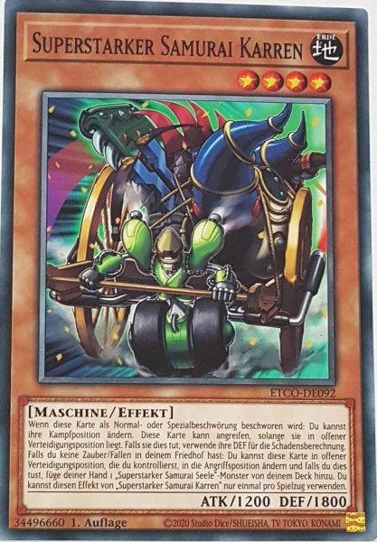 Superstarker Samurai Karren ETCO-DE092 ist in Common Yu-Gi-Oh Karte aus Eternity Code 1.Auflage