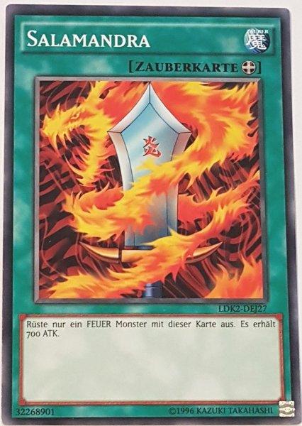 Salamandra LDK2-DEJ27 ist in Common Yu-Gi-Oh Karte aus Legendary Decks 2