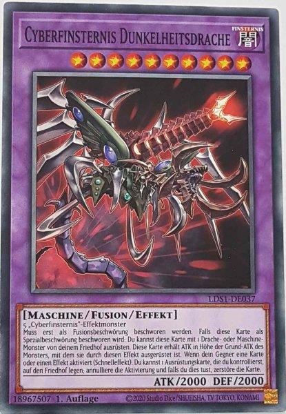 Cyberfinsternis Dunkelheitsdrache LDS1-DE037 ist in Common Yu-Gi-Oh Karte aus Legendary Duelists: Season 1 1.Auflage