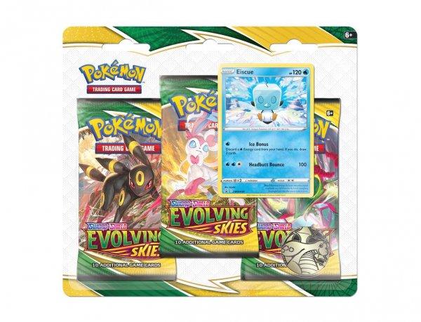 Pokemon Evolving Skies 3-Pack Blister Eiscue - Englisch