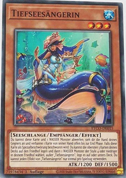 Tiefseesängerin ETCO-DE015 ist in Common Yu-Gi-Oh Karte aus Eternity Code 1.Auflage
