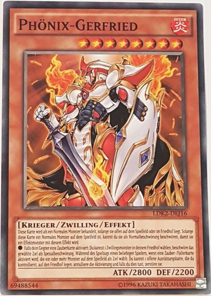Phönix-Gerfried LDK2-DEJ16 ist in Common Yu-Gi-Oh Karte aus Legendary Decks 2