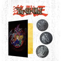 Yu-Gi-Oh! - 3 limitierte Münzen mit Sammelalbum Yugi Kaiba Joey