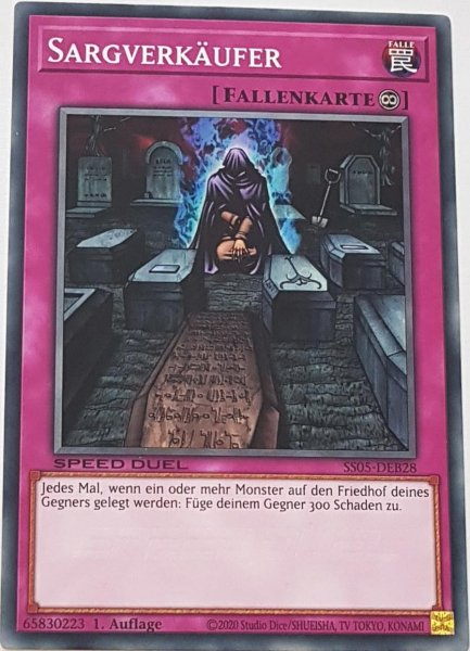 Sargverkäufer SS05-DEB28 ist in Common Yu-Gi-Oh Karte aus Twisted Nightmares 1.Auflage