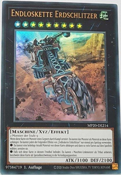 Endloskette Erdschlitzer MP20-DE214 ist in Ultra Rare Yu-Gi-Oh Karte aus 2020 Tin of Lost Memories 1.Auflage
