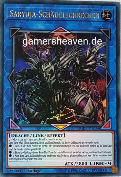 Saryuja-Schädelschrecken DUDE-DE026 ist in Ultra Rare aus Duel Devastator 1.Auflage