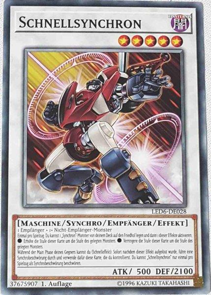 Schnellsynchron LED6-DE028 ist in Common aus Legendary Duelists: Magical Hero 1.Auflage