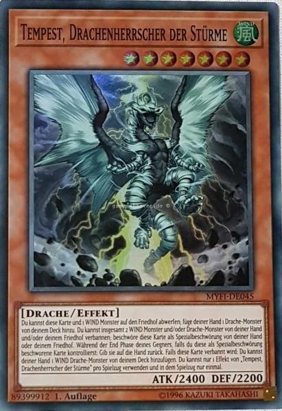 Tempest, Drachenherrscher der Stürme MYFI-DE045 ist in Super Rare aus Mystic Fighters 1.Auflage