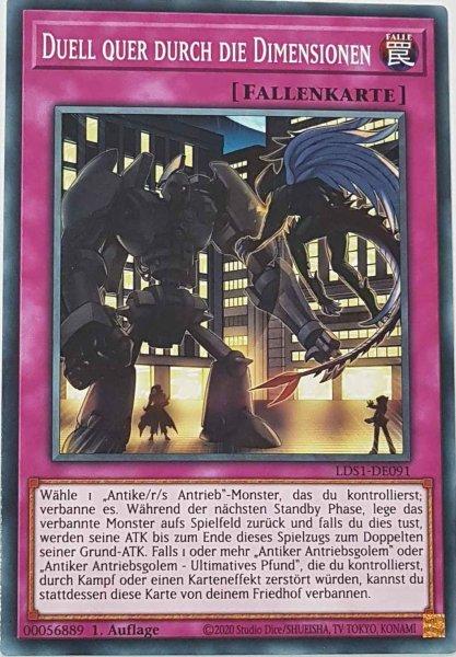 Duell quer durch die Dimensionen LDS1-DE091 ist in Common Yu-Gi-Oh Karte aus Legendary Duelists: Season 1 1.Auflage