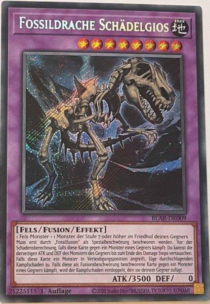Fossildrache Schädelgios BLAR-DE009 ist in Secret Rare Yu-Gi-Oh Karte aus Battles of Legend: Armageddon 1.Auflage