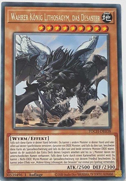 Wahrer König Lithosagym, das Desaster TOCH-DE038 ist in Rare Yu-Gi-Oh Karte aus Toon Chaos 1.Auflage