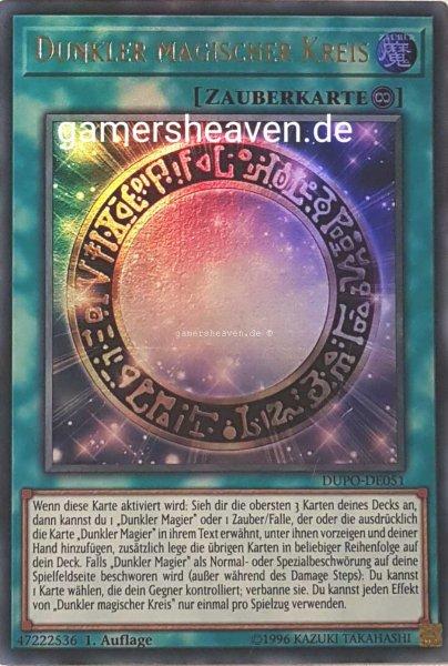 Dunkler magischer Kreis DUPO-DE051 ist in Ultra Rare aus Duel Power 1.Auflage
