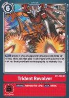 Trident Revolver BT4-100 ist in Rare. Die Digimon Karte ist aus Great Legend BT04