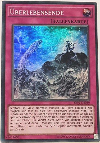Überlebensende SR04-DE030 ist in Super Rare Yu-Gi-Oh Karte aus Dinosmasher's Fury