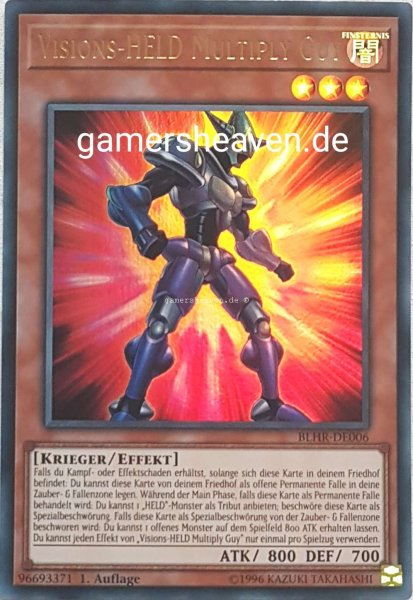 Visions-HELD Multiply Guy BLHR-DE006 ist in Ultra Rare aus Battles of Legend: Hero's Revenge 1.Auflage