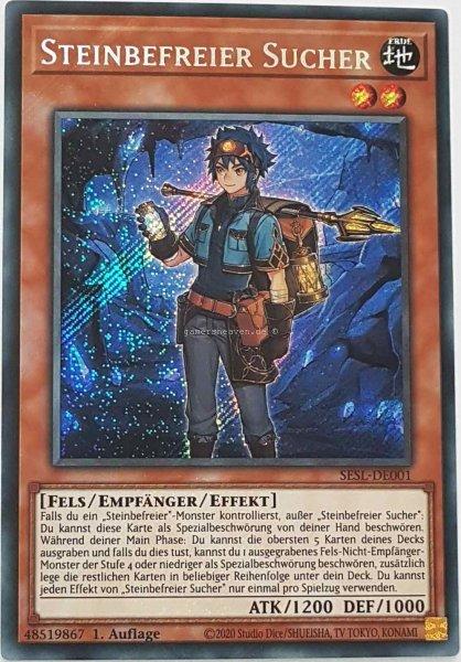 Steinbefreier Sucher SESL-DE001 ist in Secret Rare Yu-Gi-Oh Karte aus Secret Slayers 1.Auflage