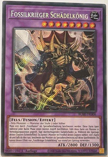 Fossilkrieger Schädelkönig BLAR-DE006 ist in Secret Rare Yu-Gi-Oh Karte aus Battles of Legend: Armageddon 1.Auflage